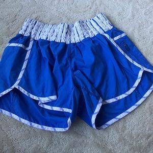 Blue and white Lululemon shorts